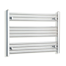 Load image into Gallery viewer, 800mm Wide 600mm High Chrome Towel Rail Radiator