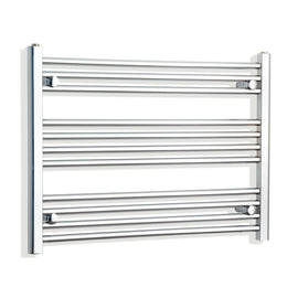 800mm Wide 600mm High Chrome Towel Rail Radiator