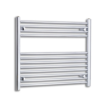 800mm Wide 700mm High Chrome Towel Rail Radiator