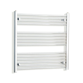 800mm Wide 800mm High Chrome Towel Rail Radiator