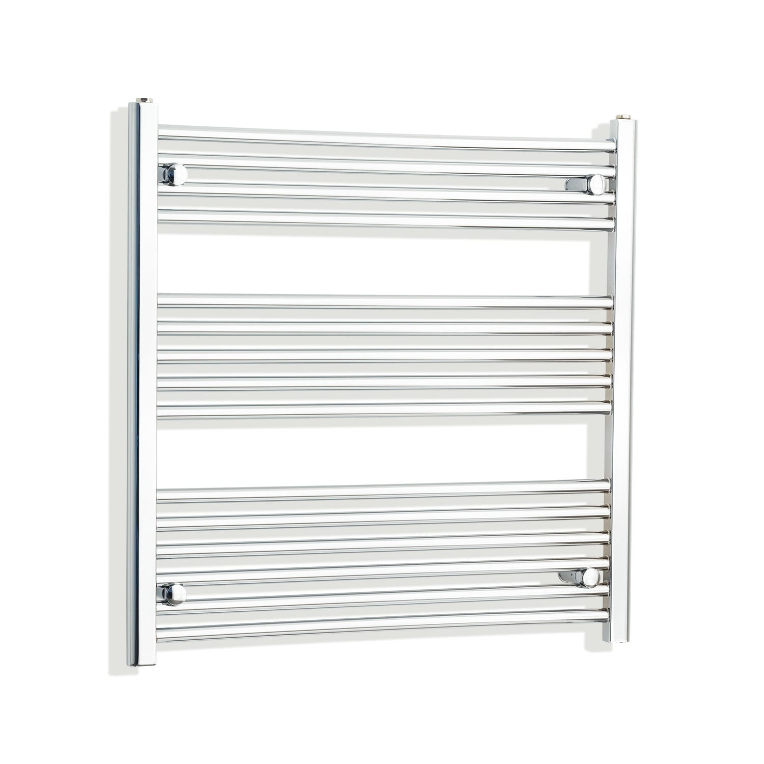 750mm Wide 800mm High Chrome Towel Rail Radiator