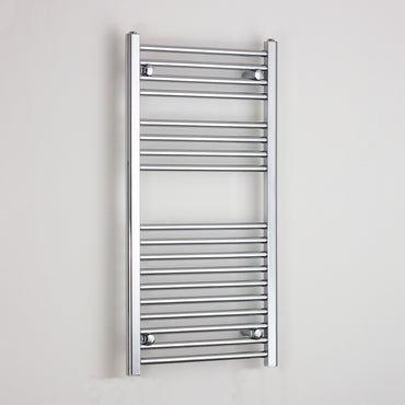 400mm Wide 1000mm High Chrome Towel Rail Radiator