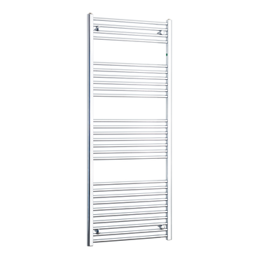 650mm Wide 1600mm High Chrome Towel Rail Radiator