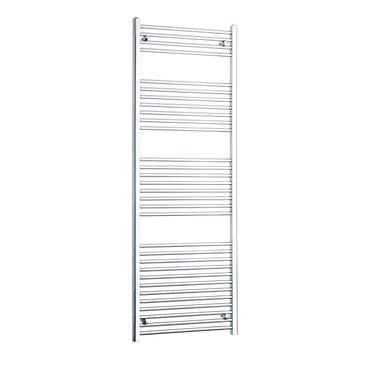 650mm Wide 1800mm High Chrome Towel Rail Radiator