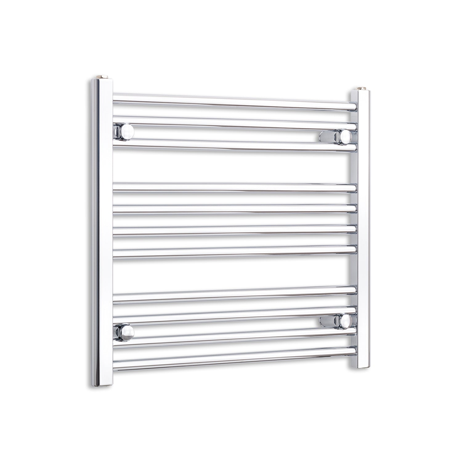 600mm Wide 600mm High Chrome Towel Rail Radiator