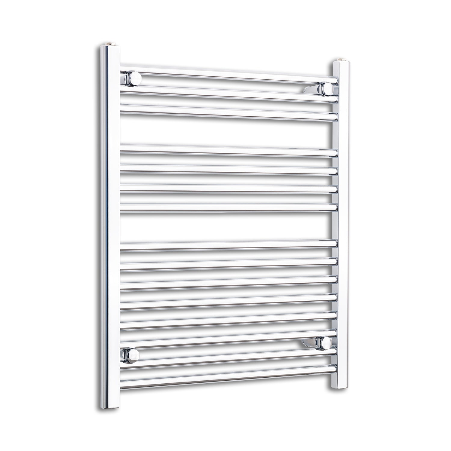 800 mm High x 650 mm Wide Heated Straight Towel Rail Radiator Chrome