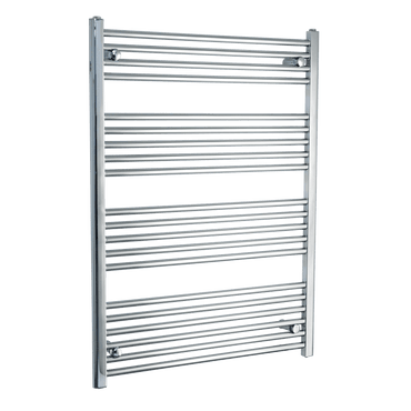 750mm Wide 1100mm High Chrome Towel Rail Radiator