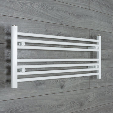 1100x400mm Flat White Electric Element Towel Rail
