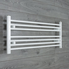 Load image into Gallery viewer, 950mm Wide 400mm High White Towel Rail Radiator