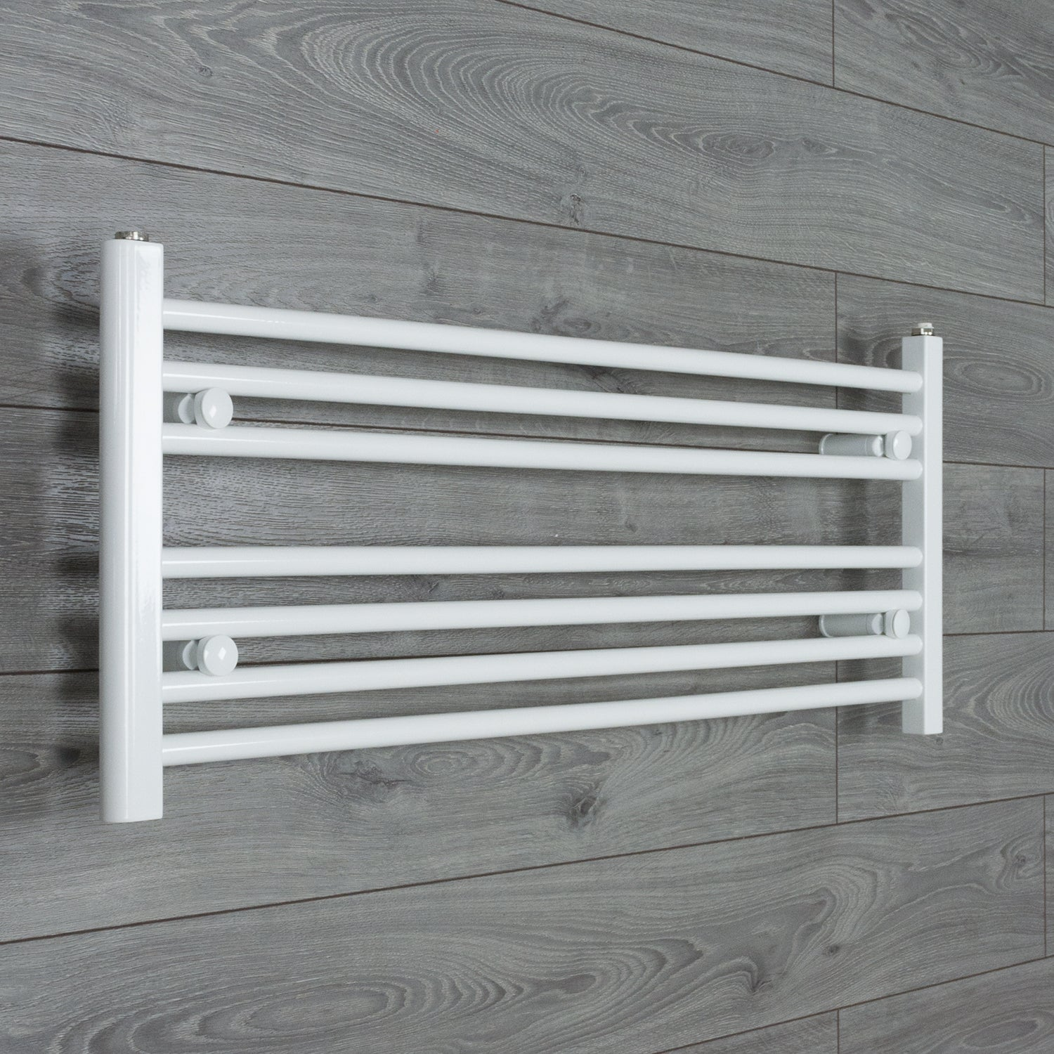 1000x400mm Flat White Electric Element Towel Rail