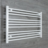 950x600mm Flat White Electric Element Towel Rail