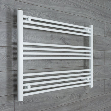 1000x700mm Flat White Electric Element Towel Rail