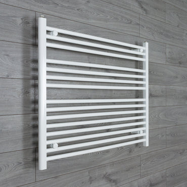 1000x800mm Flat White Electric Element Towel Rail