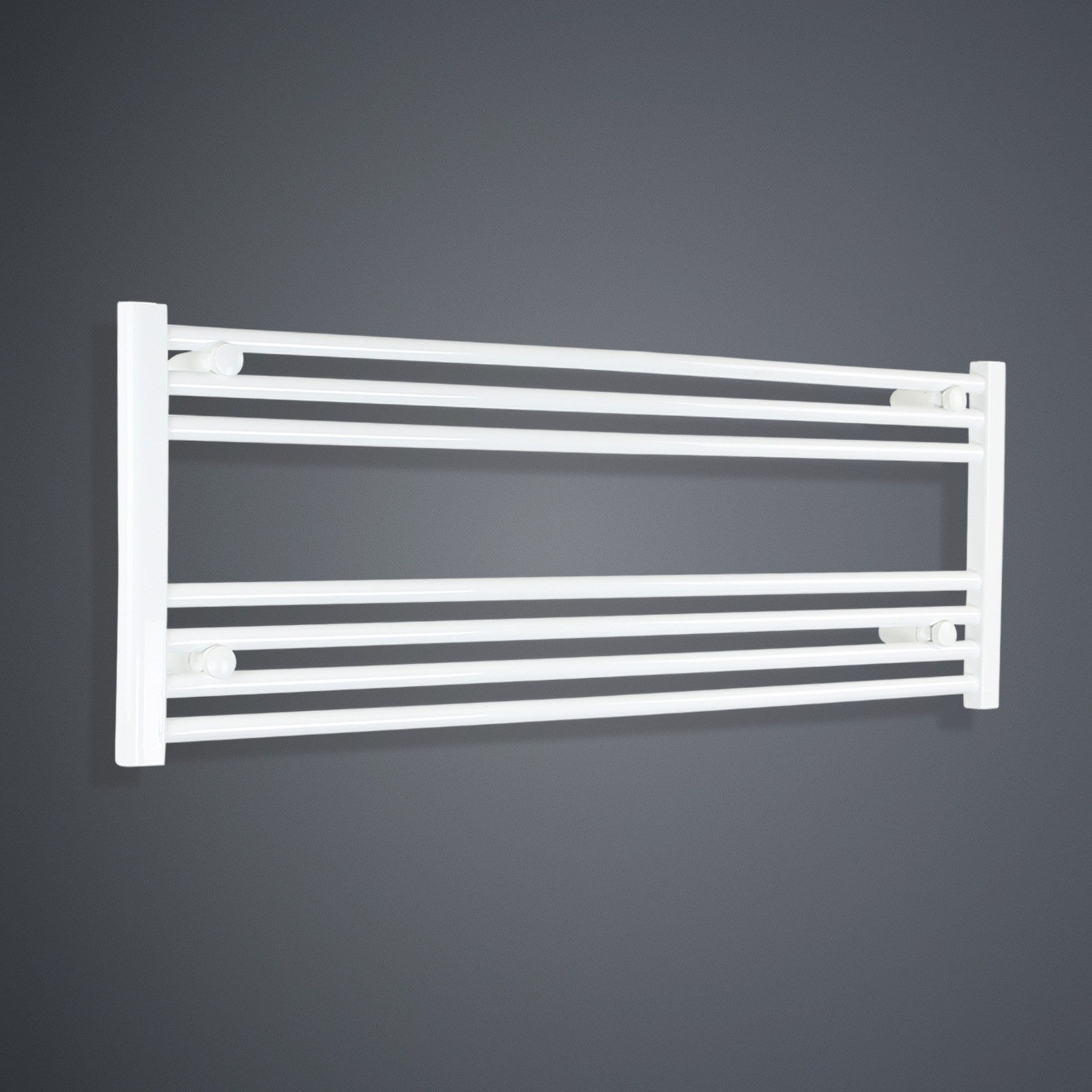 1300mm Wide 400mm High White Towel Rail Radiator
