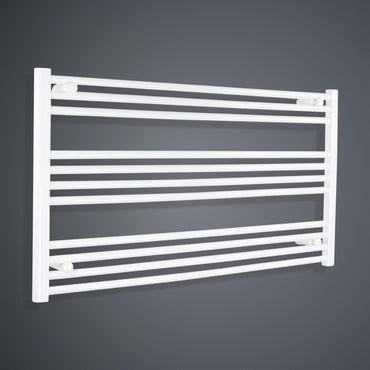 1300mm Wide 600mm High White Towel Rail Radiator