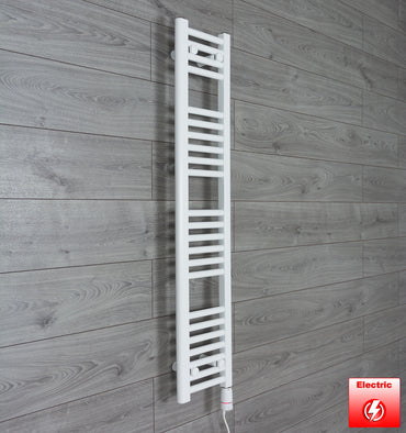 250mm Wide 1200mm High Pre-Filled Chrome Electric Towel Rail Radiator With Thermostatic GT Element