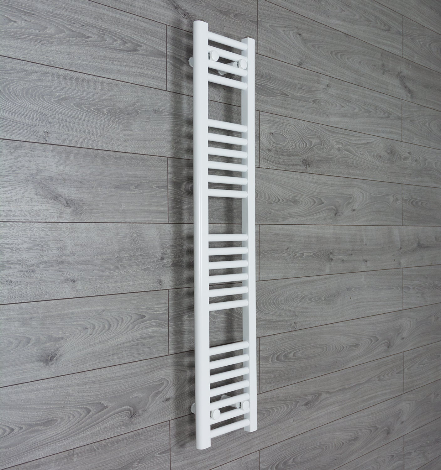 250mm Wide 1200mm High White Towel Rail Radiator