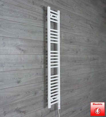 250mm Wide 1400mm High Pre-Filled Chrome Electric Towel Rail Radiator With Thermostatic GT Element