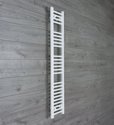 250mm Wide 1400mm High White Towel Rail Radiator