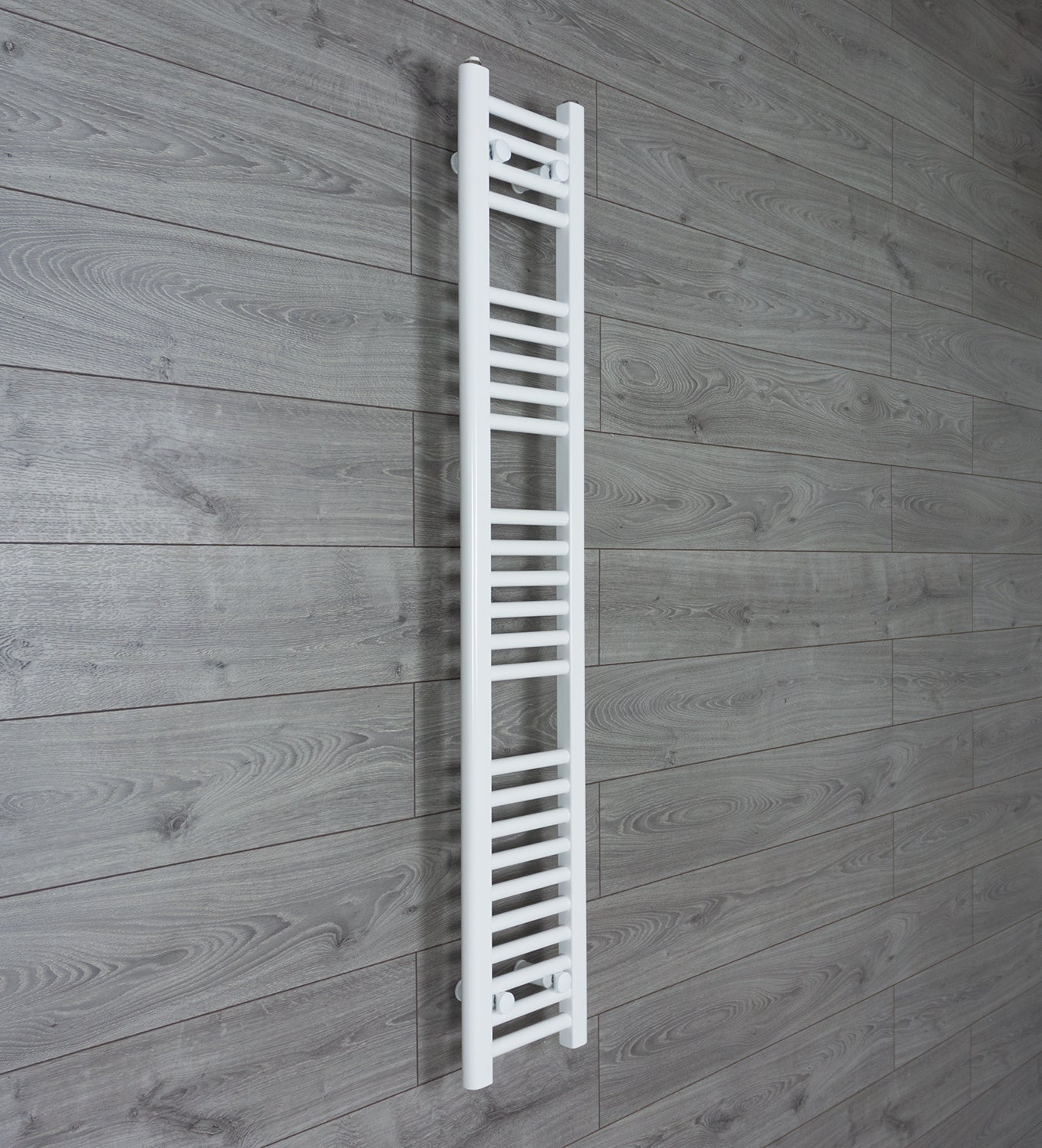 Narrow 200mm Wide X 1400mm High Bathroom Heated Towel Radiator Chrome Straight Air Conditioners & Heaters
