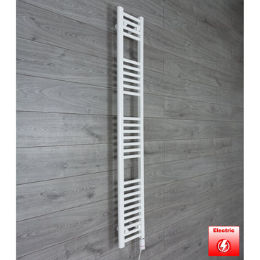 250mm Wide 1600mm High Pre-Filled Chrome Electric Towel Rail Radiator With Thermostatic GT Element