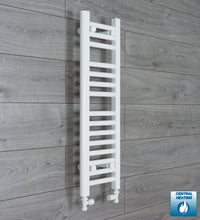 Load image into Gallery viewer, 250mm Wide 800mm High White Towel Rail Radiator With Straight Valve