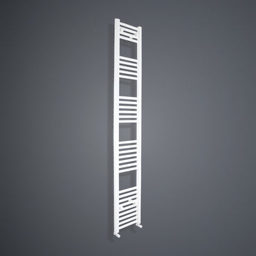 2000 mm High x 350 mm Wide Heated Towel Rail Radiator White - Elegant Radiators