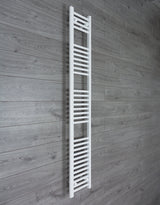300mm Wide 1800mm High White Towel Rail Radiator