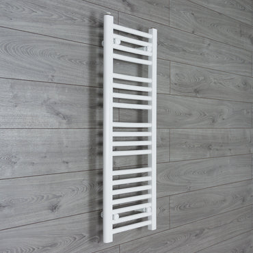 350x1000mm Flat Chrome Electric Element Towel Rail