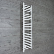 Load image into Gallery viewer, 350mm Wide 1200mm High White Towel Rail Radiator
