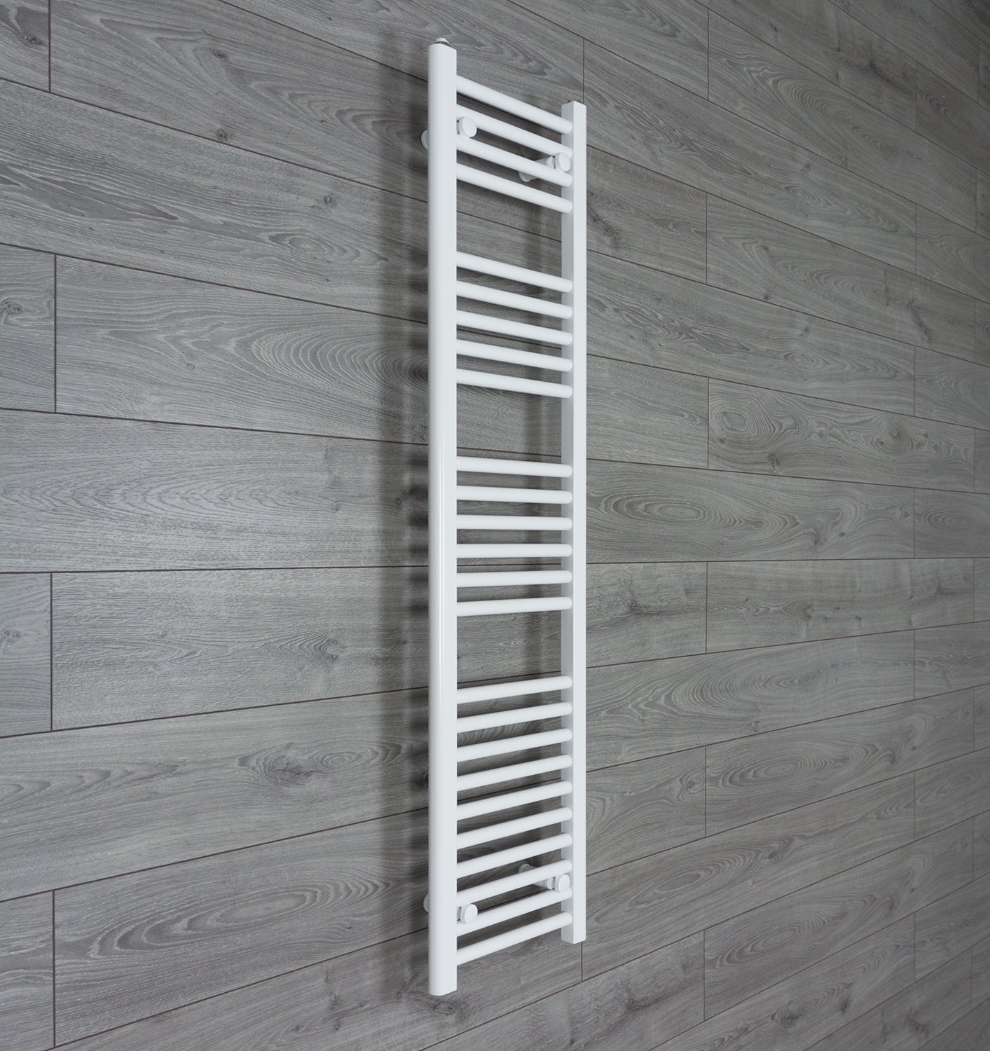 300mm Wide 1400mm High White Towel Rail Radiator