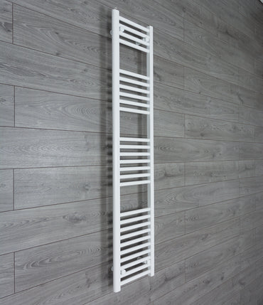 300mm Wide 1600mm High White Towel Rail Radiator