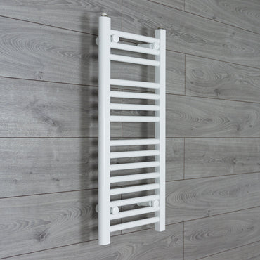300mm Wide 800mm High White Towel Rail Radiator