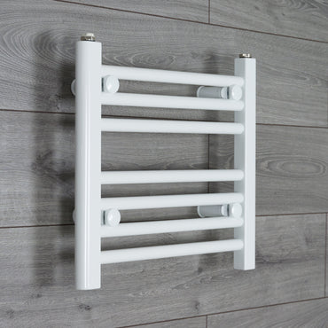 400x400mm Flat White Electric Element Towel Rail