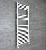 1200 mm High 500 mm Wide Heated Flat Towel Rail Radiator White Central heating or Electric