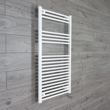 1100 mm High x 600 mm Wide Straight White Heated Towel Rail Radiator