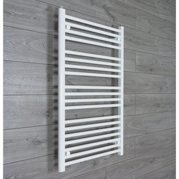 650x1000mm Flat White Electric Element Towel Rail