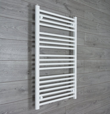 1000 mm High 600 mm Wide Heated Flat Towel Rail Radiator White Central heating or Electric