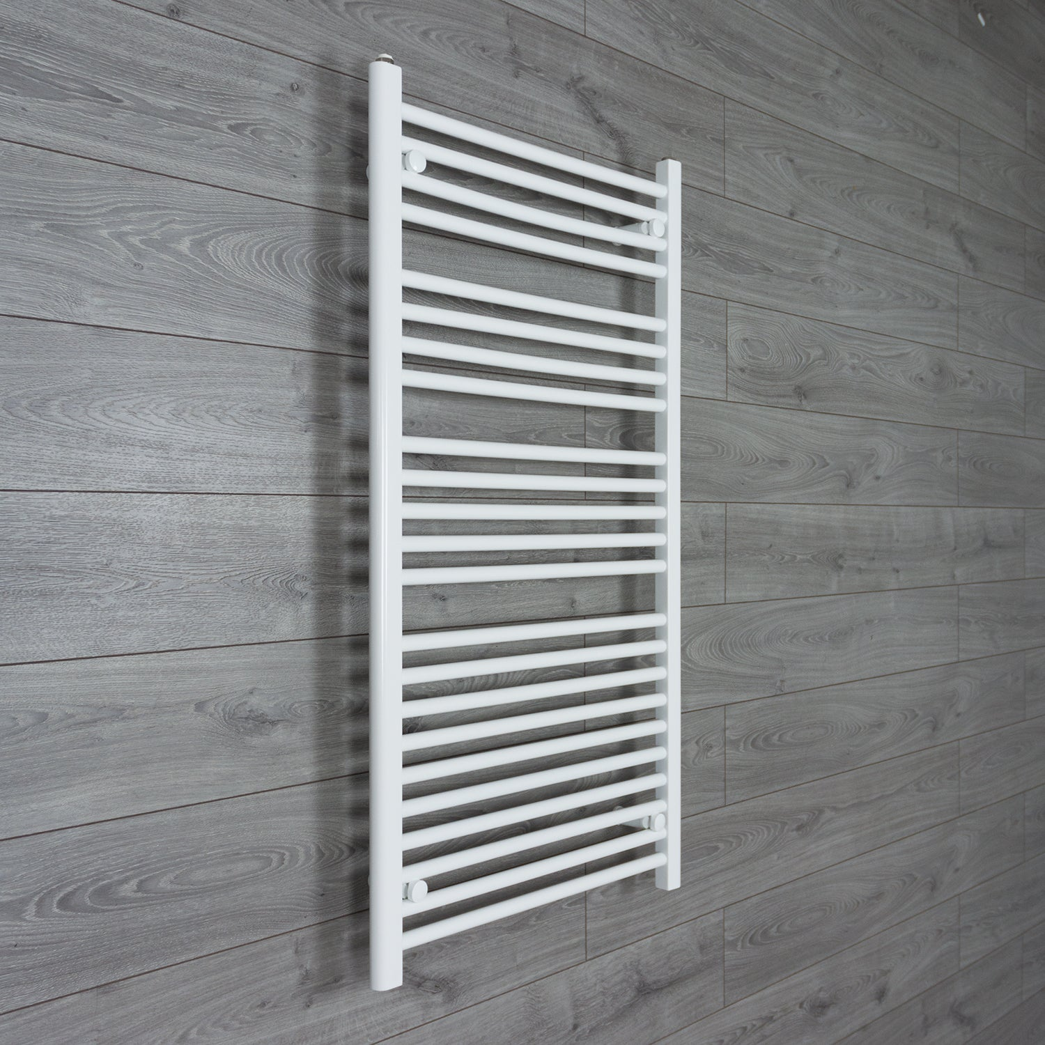 700x1200mm Flat White Electric Element Towel Rail