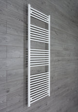 650mm x 1800mm High White Towel Rail Radiator