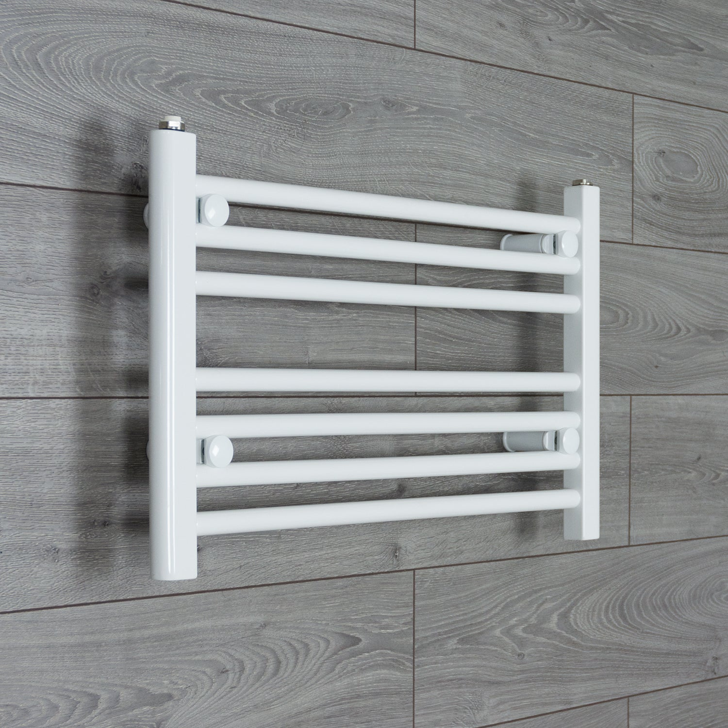 600mm Wide 400mm High White Towel Rail Radiator