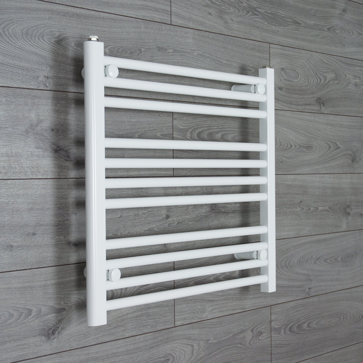 650x600mm Flat White Electric Element Towel Rail