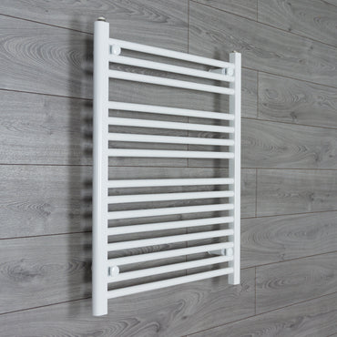 650x800mm Flat White Electric Element Towel Rail