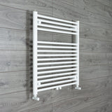 775 mm High x 740 mm Wide Heated Towel Rail Radiator White Dual Fuel Ready