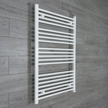 750x1100mm Flat White Electric Element Towel Rail