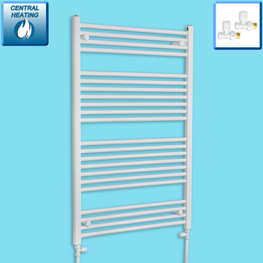 1200 mm High 750 mm Wide Heated Flat Towel Rail Radiator White