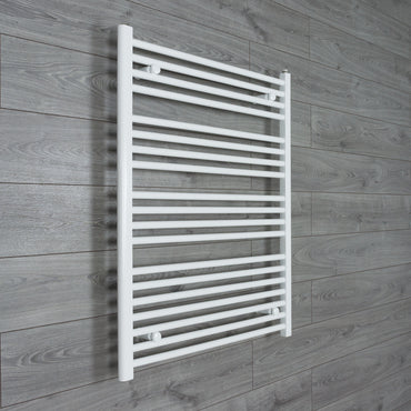 800x1000mm Flat White Electric Element Towel Rail