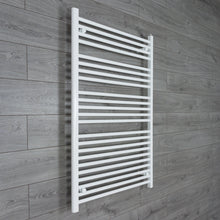 Load image into Gallery viewer, 900mm Wide 1200mm High White Towel Rail Radiator