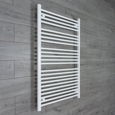 850mm Wide 1200mm High White Towel Rail Radiator