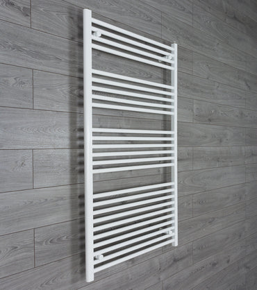 850mm Wide 1400mm High White Towel Rail Radiator